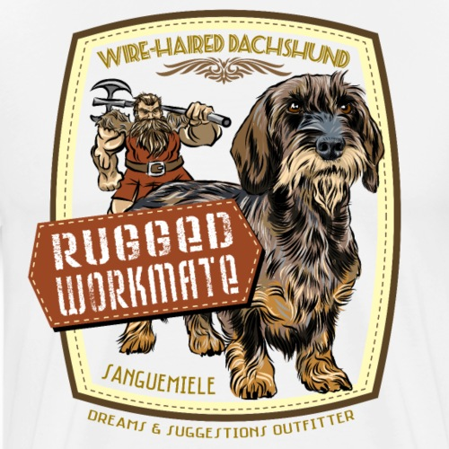 dachshund_rugged_workmate - Maglietta Premium da uomo