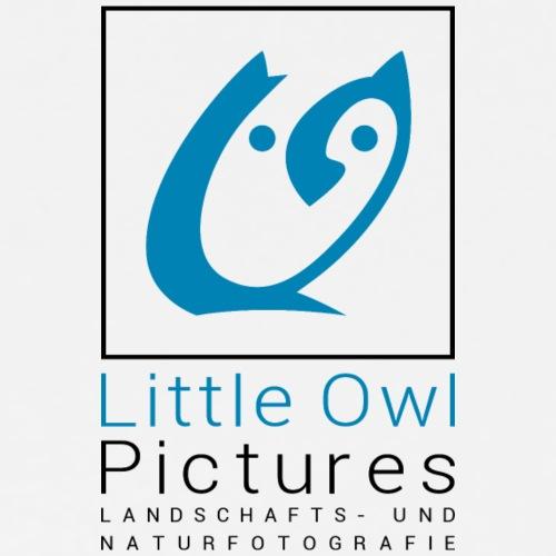 Little Owl Pictures Logo (schwarz/blau)
