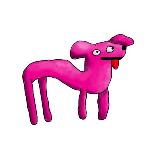 Pink doglike creature - Men's Premium T-Shirt