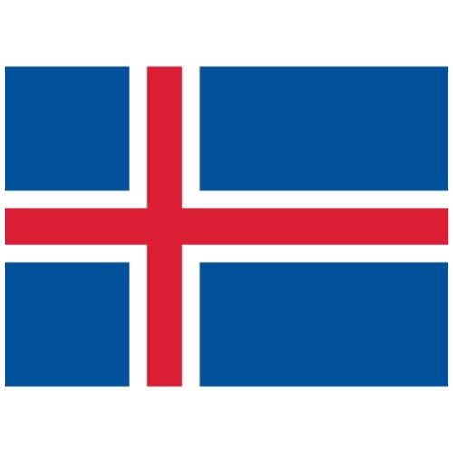 Bandera de Islandia - Camiseta premium hombre