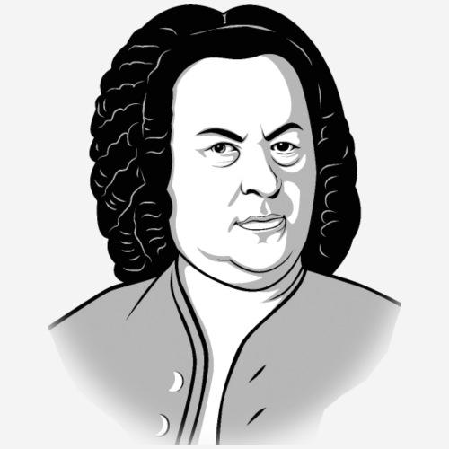 Johann Sebastian Bach Cartoon in schwarz weiß grau - Männer Premium T-Shirt