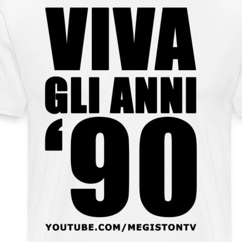 Viva Gli Anni '90 Nero - Maglietta Premium da uomo