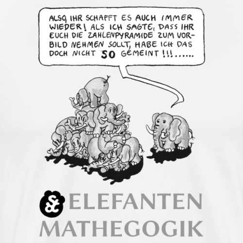 ELEFANTENMATHEGOGIK (1): ZAHLENPYRAMIDE (1) [GS] - Männer Premium T-Shirt