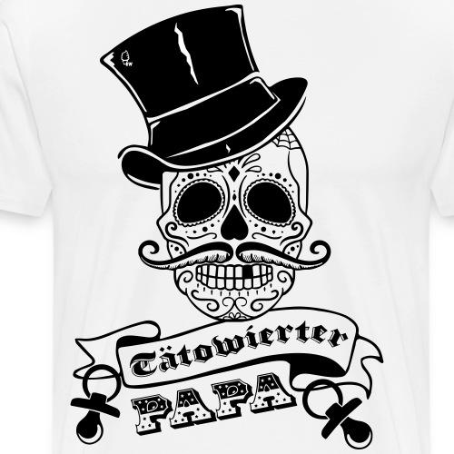 Tätowierter Papa - Männer Premium T-Shirt