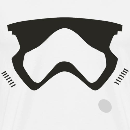 Modern Stormtrooper Face - Men's Premium T-Shirt