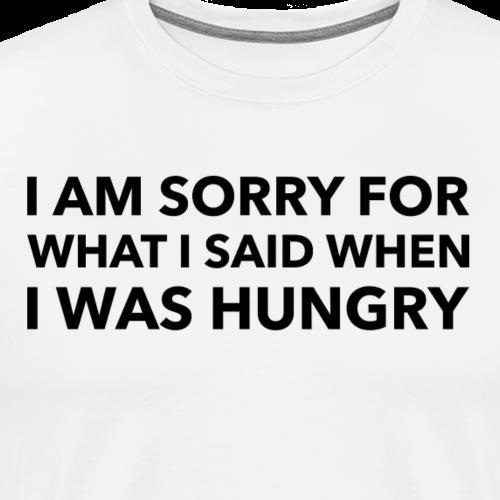 SORRY BLACK - Premium T-skjorte for menn