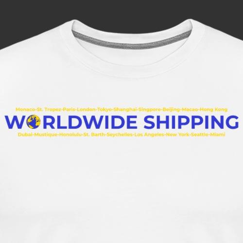 Worldwide Shipping - Maglietta Premium da uomo