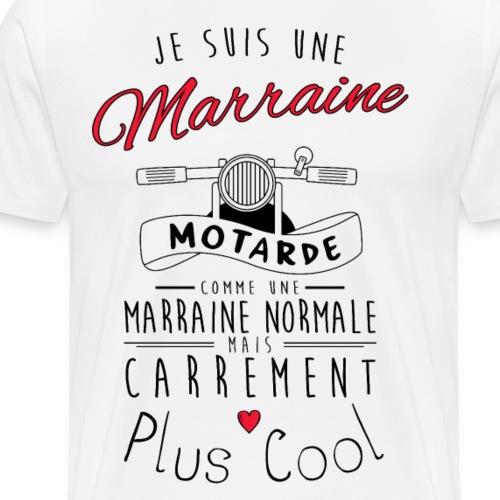 marraine motarde carrement plus cool - T-shirt Premium Homme