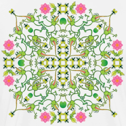 Mandala pattern of fly hunter frogs - Men's Premium T-Shirt
