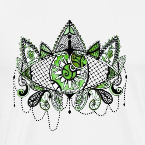 Oeil dentelle Vert Version Blanc - T-shirt Premium Homme