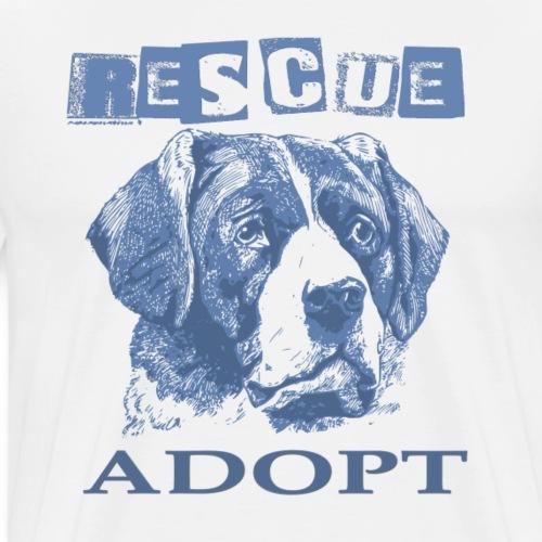 Rescue adopt - Camiseta premium hombre