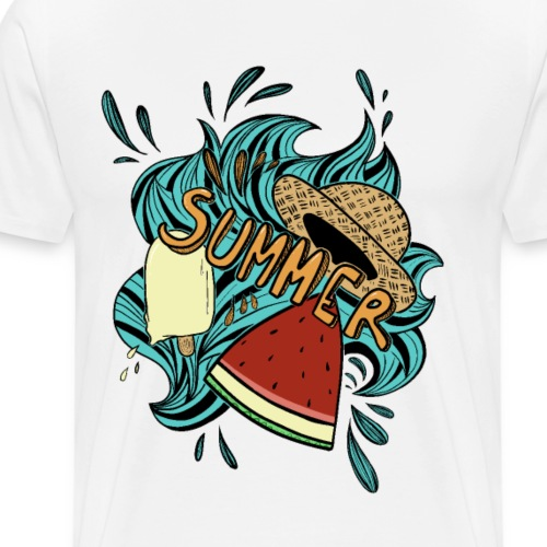 summer doodle - Maglietta Premium da uomo