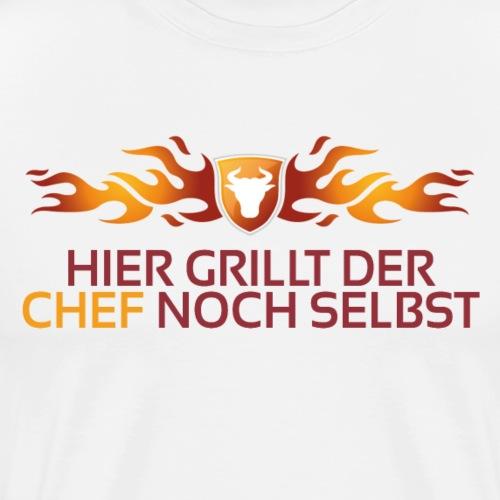 Hier grillt der Chef noch - Männer Premium T-Shirt