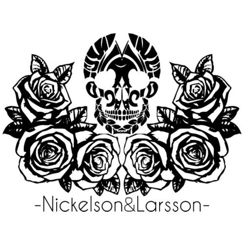 rose skull - Männer Premium T-Shirt