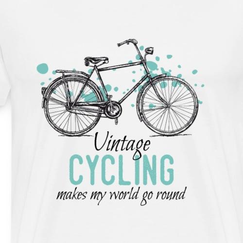 Retro Style Vintage Fahrrad Zeichnung
