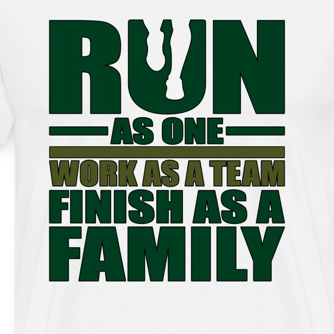 Running Team Gift Run as One Work as a Team