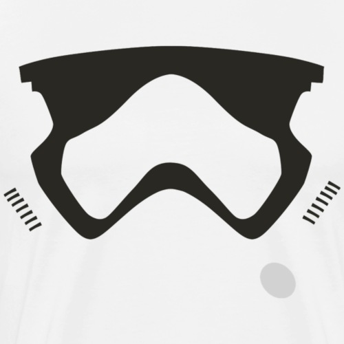 Modern Stormtrooper Face - Men's Premium T-Shirt