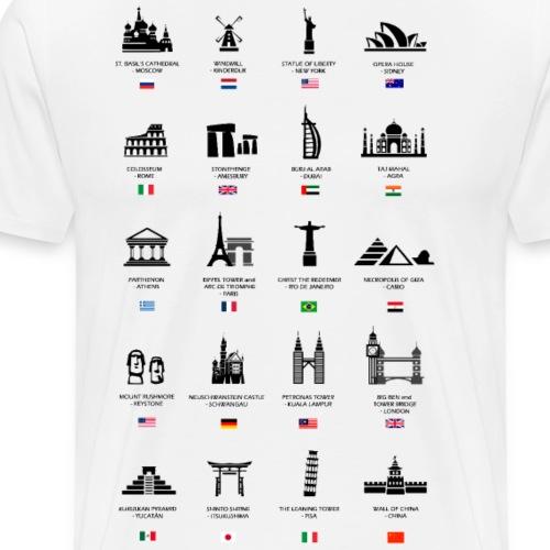 WORLD MONUMENTS - Men's Premium T-Shirt