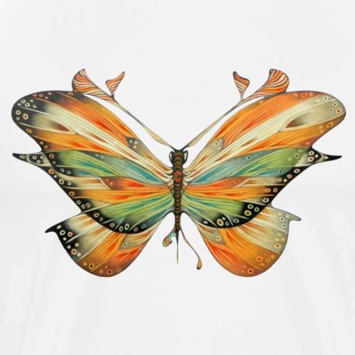 grande farfalla colorata - Maglietta Premium da uomo
