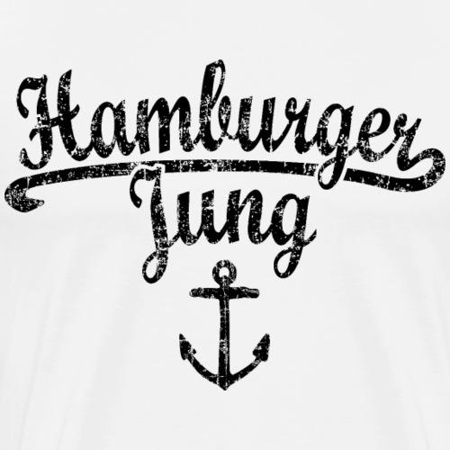 Hamburger Jung Klassik (Vintage Schwarz) Hamburg - Männer Premium T-Shirt