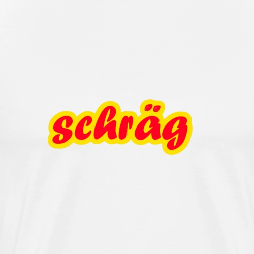 schräg - Männer Premium T-Shirt