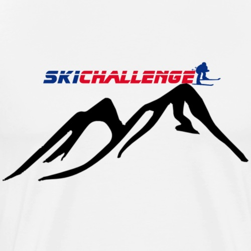Ski challenge - Camiseta premium hombre