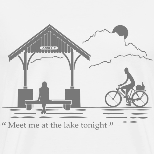 Meet me at annecy lake - T-shirt Premium Homme