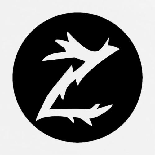 Z logo inni et sirkel sort - Premium T-skjorte for menn