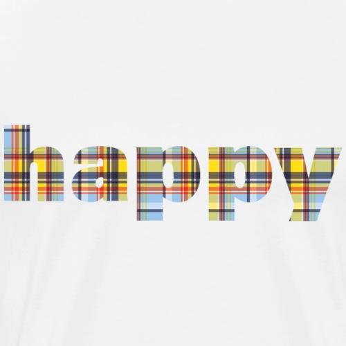 happy - Mannen Premium T-shirt