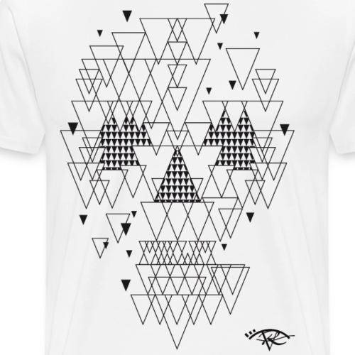 Tete de Mort Rougevision - T-shirt Premium Homme