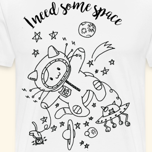 I need some space - Katzen - Männer Premium T-Shirt