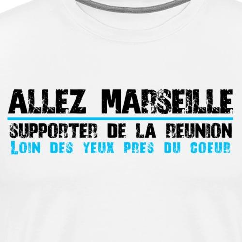 Collection ALLEZ MARSEILLE Supporter de La Réunion - T-shirt Premium Homme