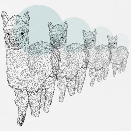 4 Alpakas - Männer Premium T-Shirt