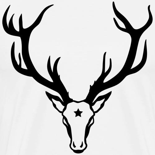 Hirsch Geweih Stern Stag Night Deer 1c - Männer Premium T-Shirt