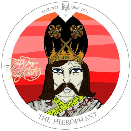 The Hierophant   Tarot Karte   Sternzeichen Stier - Männer Premium T-Shirt