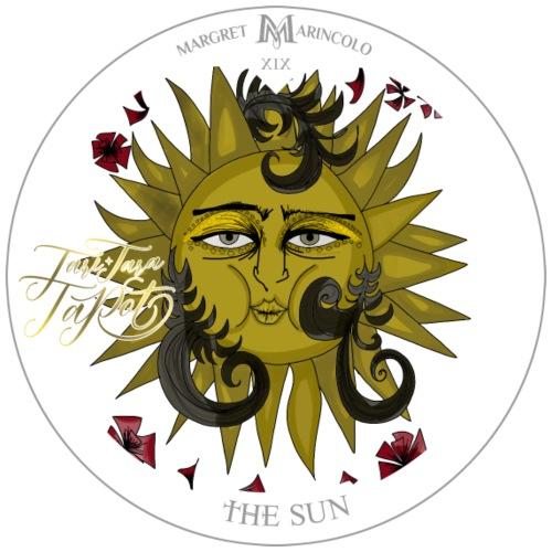 The Sun | Die Sonne Tarot Karte rund | Löwe - Männer Premium T-Shirt