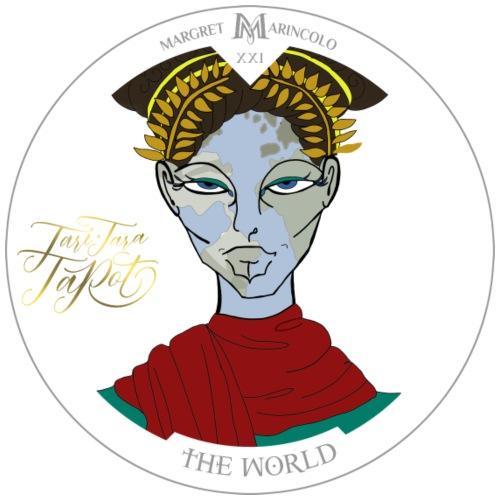 The World   Die Welt Tarot Karte - Männer Premium T-Shirt