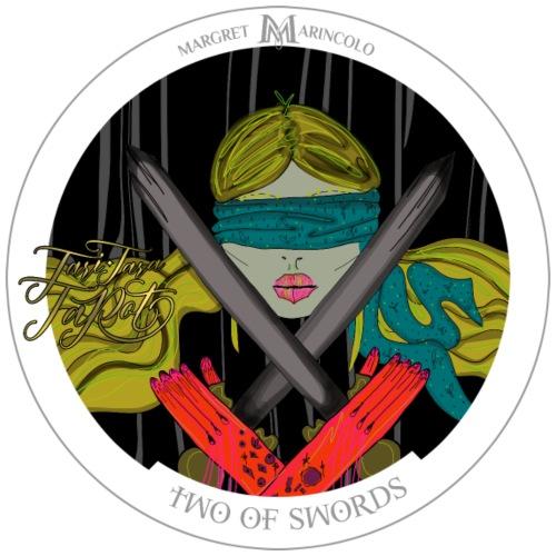 Two of Swords | Zwei der Schwerter Tarot Karte - Männer Premium T-Shirt