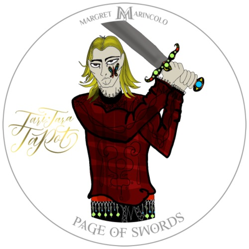 Page of Swords   Bube der Schwerter Tarot Karte - Männer Premium T-Shirt