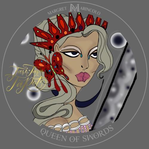 Queen of Swords Königin der Schwerter Tarot Karte - Männer Premium T-Shirt