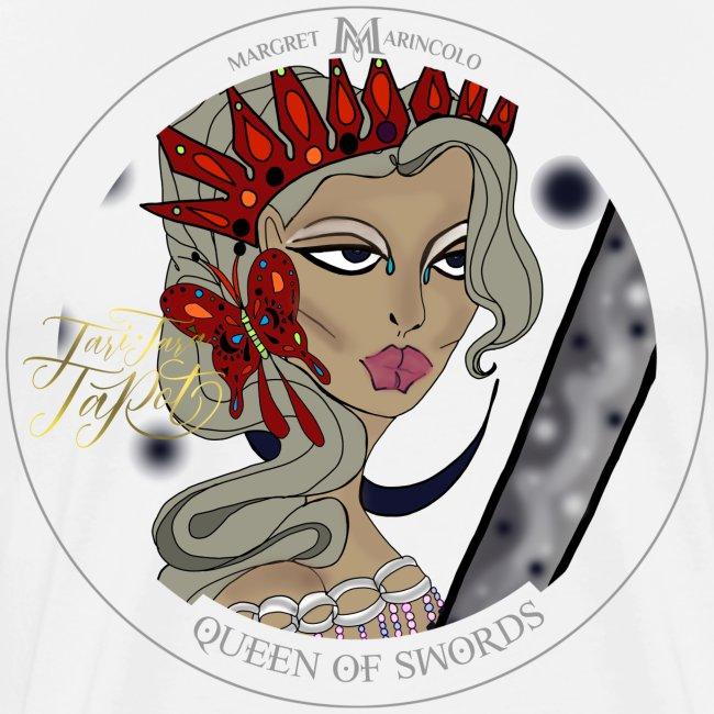 Queen of Swords Königin der Schwerter Tarot Karte