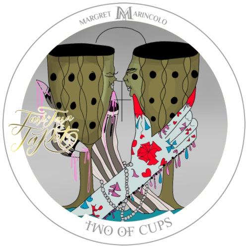 Two of Cups | Zwei der Kelche Tarot Karte - Männer Premium T-Shirt