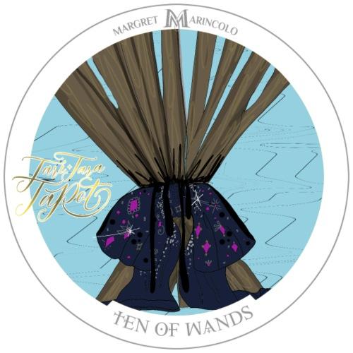 Ten of Wands | Zehn der Stäbe Tarot Karte - Männer Premium T-Shirt