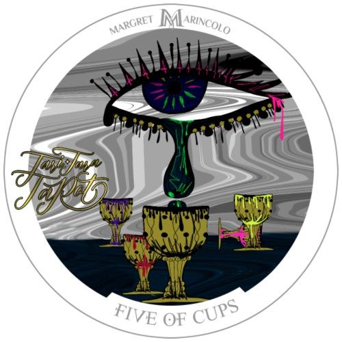 Five of Cups | Fünf der Kelche Tarot Karte - Männer Premium T-Shirt