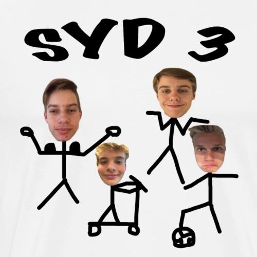 SYD 3 FANTEE - Herre premium T-shirt