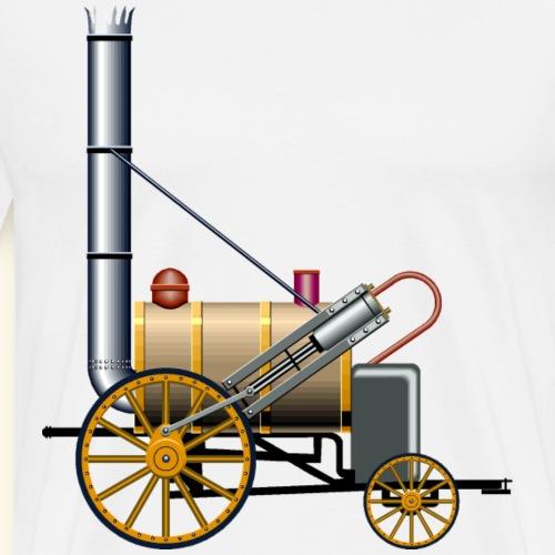 steam rocket locomotive train - Men's Premium T-Shirt