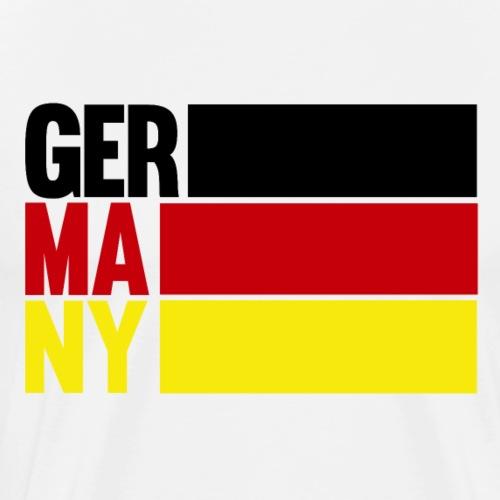 GERMANY Deutschland mit Flagge für Damen & Herren - Männer Premium T-Shirt