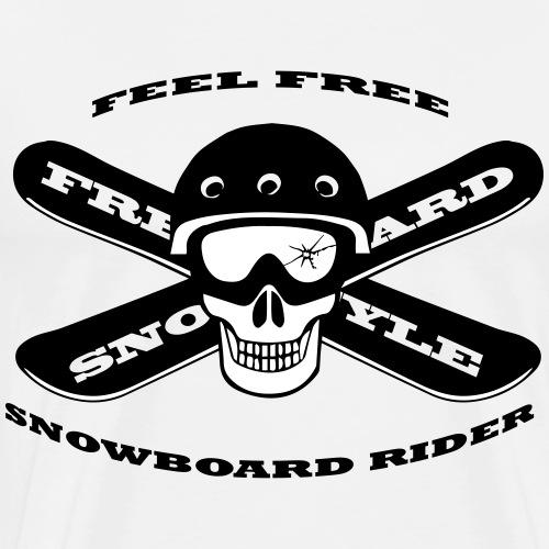 snowbard rider - Koszulka męska Premium