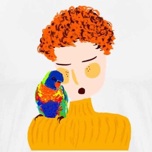 parrot love - Men's Premium T-Shirt
