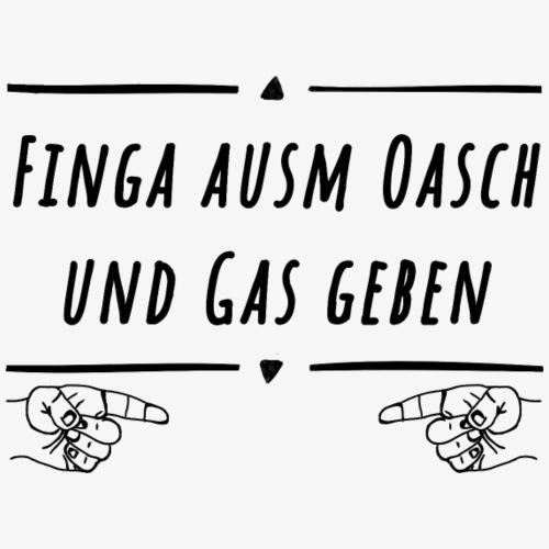 fingaausmoaschundgasgeben mitfinger - Männer Premium T-Shirt